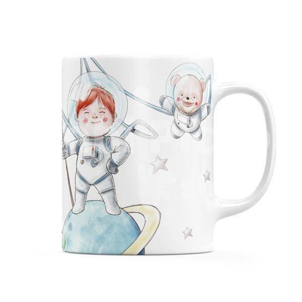Taza infantil personalizable Astronauta-02 Bimbi Piccoli Shop